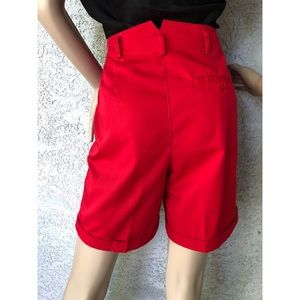 Vintage Shorts - VINTAGE | High waisted pleated front longer shorts